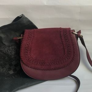 Vince Camuto Kirie Suede/Leather Crossbody Saddle